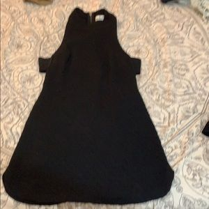 Black turtle neck mini dress |LF